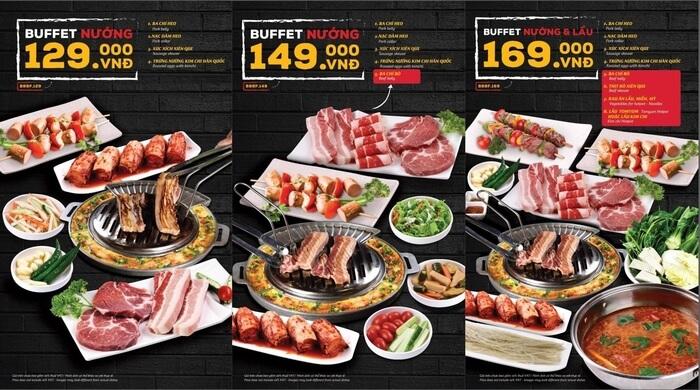 Buffet cho bữa trưa luôn là hình thức tụ họp được giới công sở ưu tiên chọn