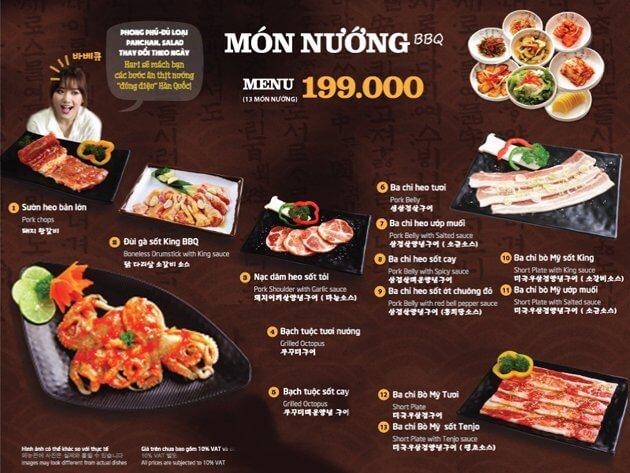 King BBQ lựa chọn hoàn hảo của các tín đồ ẩm thực Hàn Quốc