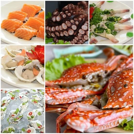 Hải sản đa dạng tại nhà hàng Hương Sen