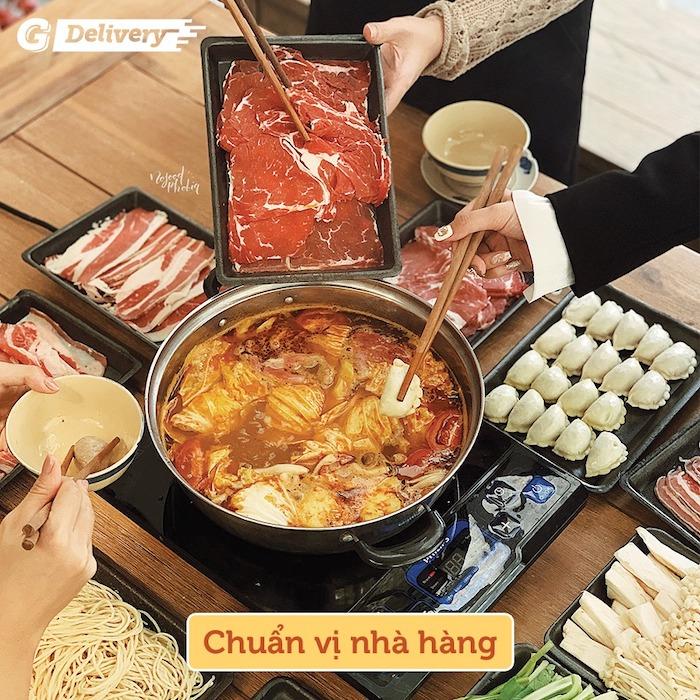 Tại Gogi house phục vụ buffet lẩu truyền thống Hàn Quốc