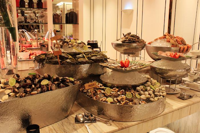 Các món hải sản tại Sứ buffet luôn tươi ngon